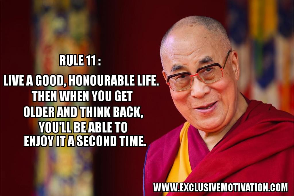 Dalai Lama's 15 Rules for Living - Exclusive Motivation