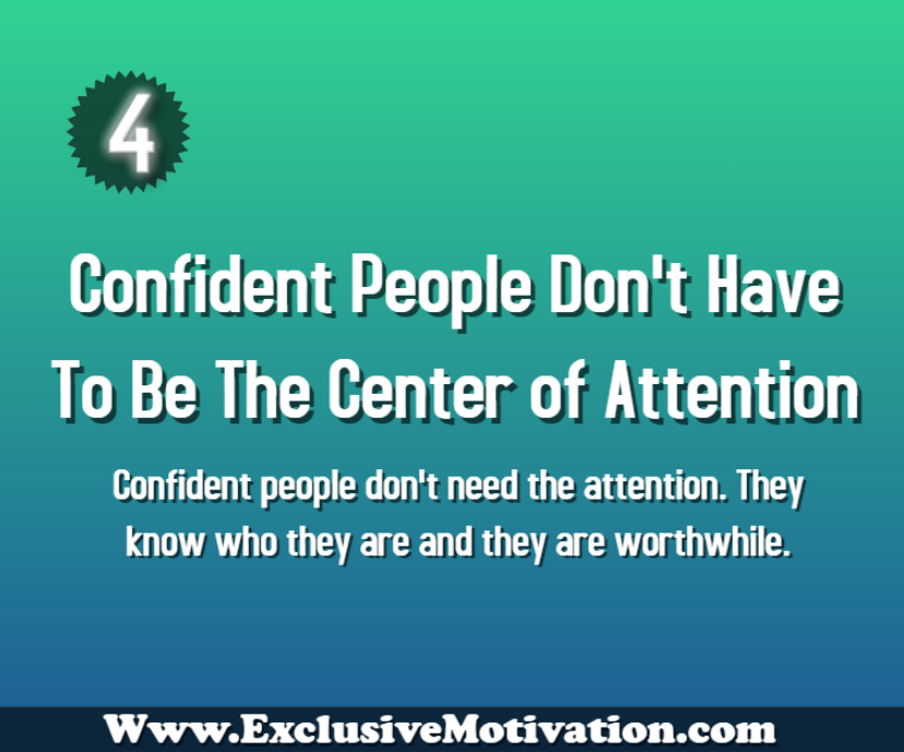 Habits of Confident People