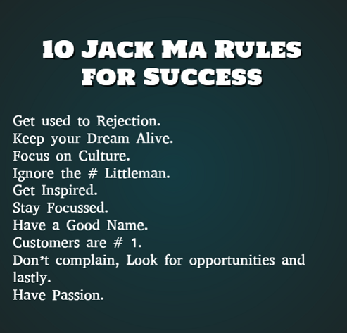 10 Jack Ma Rules For Success Exclusive Motivation