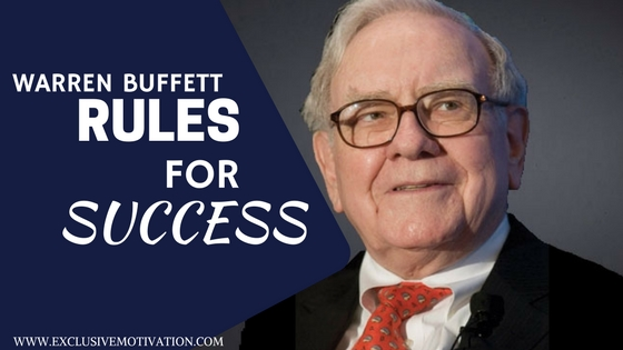 Warren Buffett Rules For Success