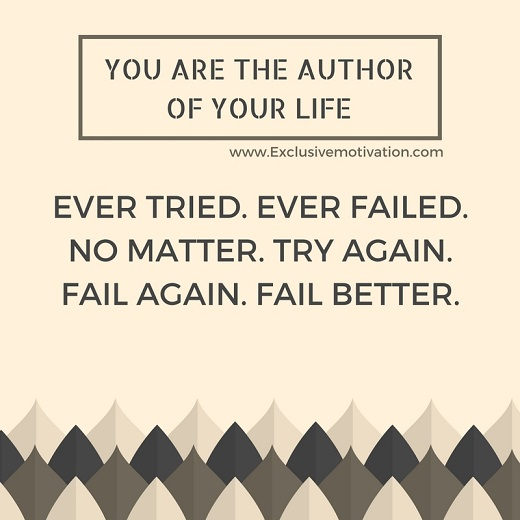 You Are The Author of Your Life